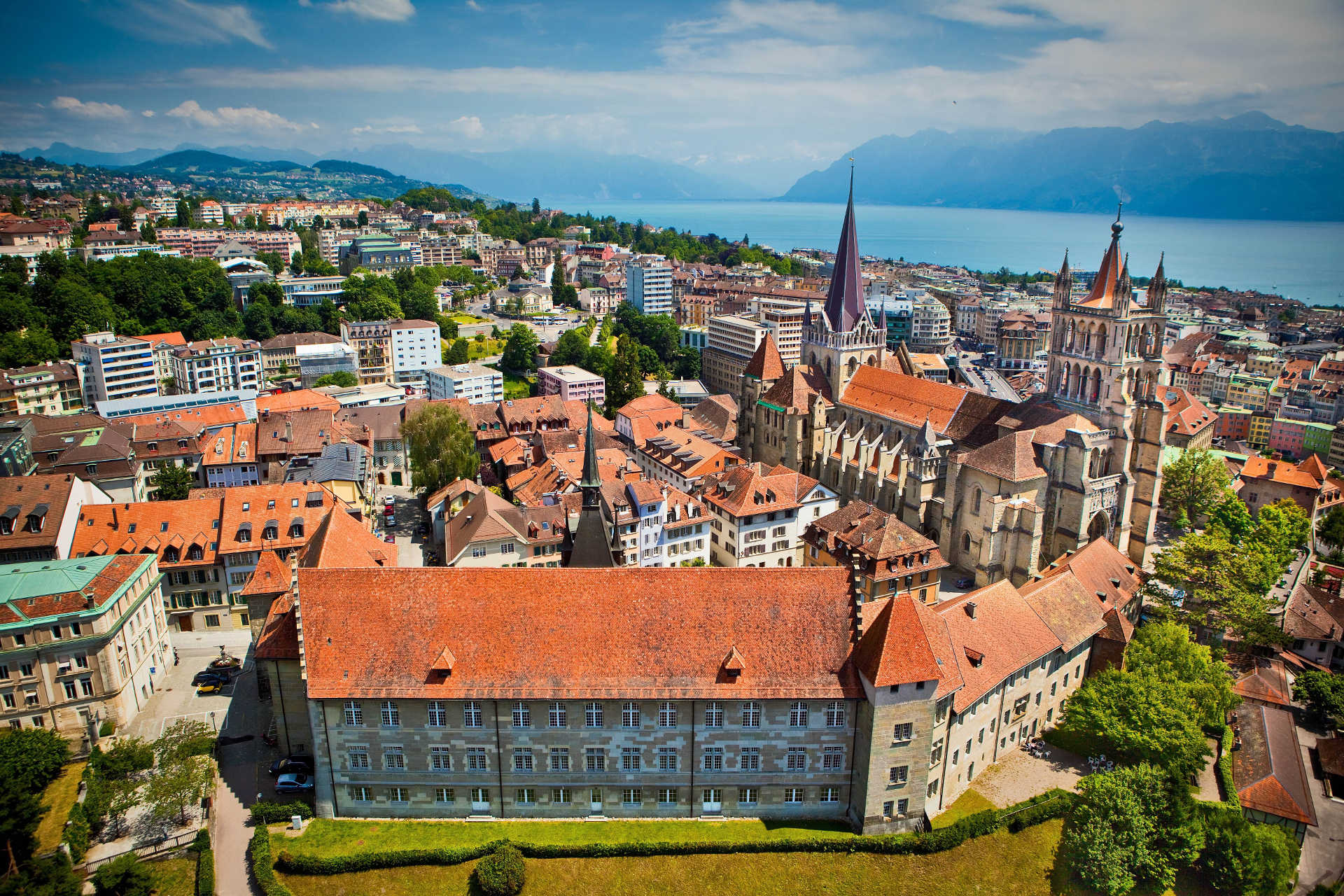 Lausanne ville photo cathédrale
