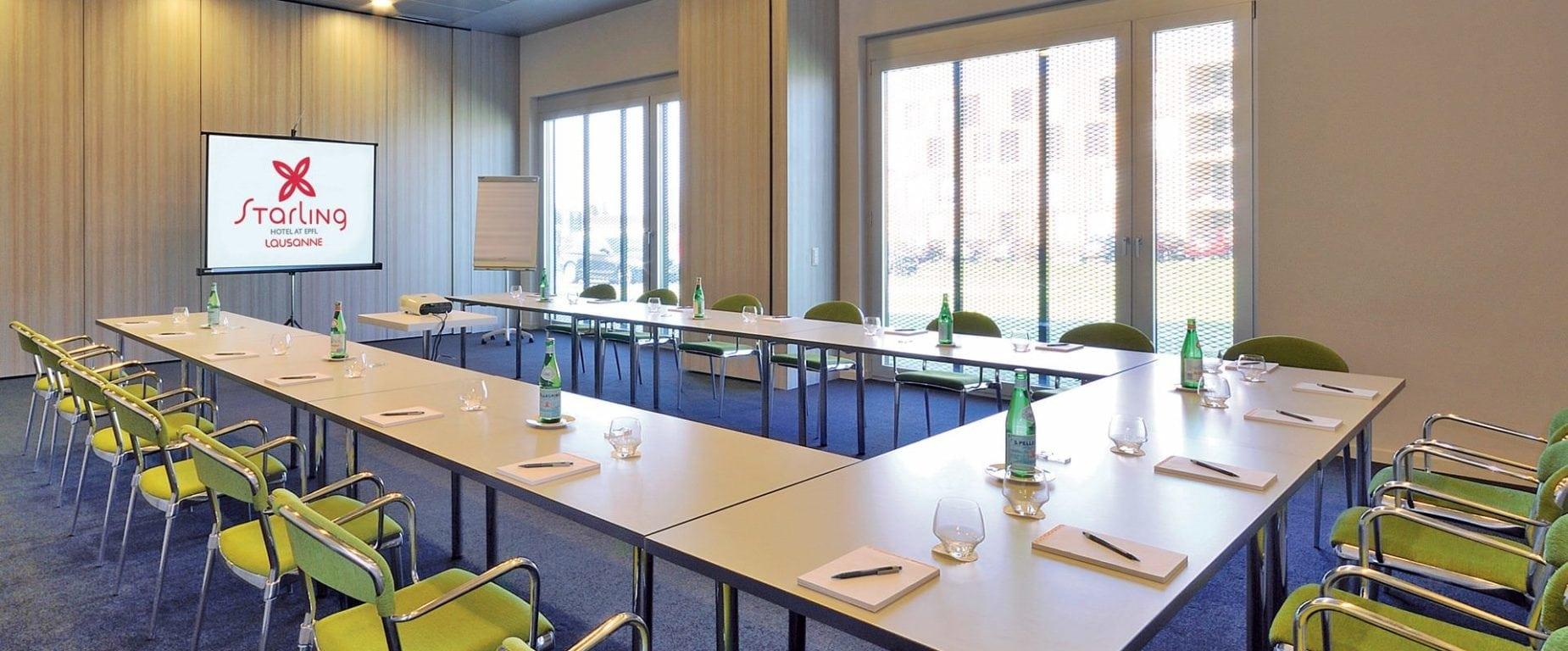 Salle conférence préparée Starling Lausanne