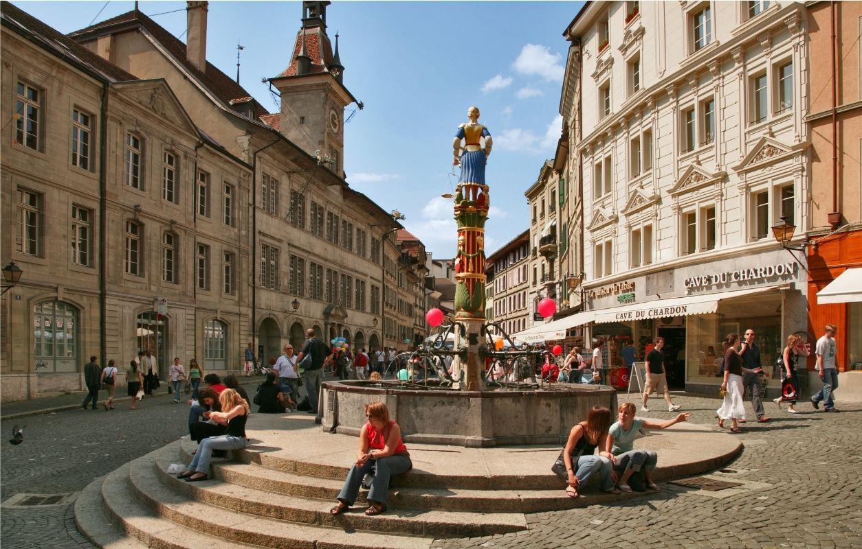 Besichtigung der Altstadt von Lausanne